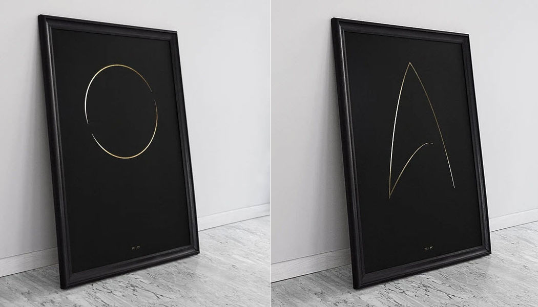 THE THIN GOLD LINE Impression d'art Oeuvres sur papier Art  |