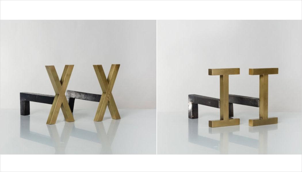 Lum'art Chenets Accessoires de cheminée Cheminée   