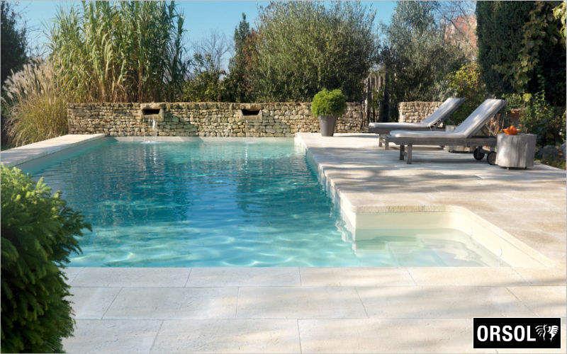 Orsol Plage de piscine Margelles et plages Piscine et Spa Jardin-Piscine | Contemporain