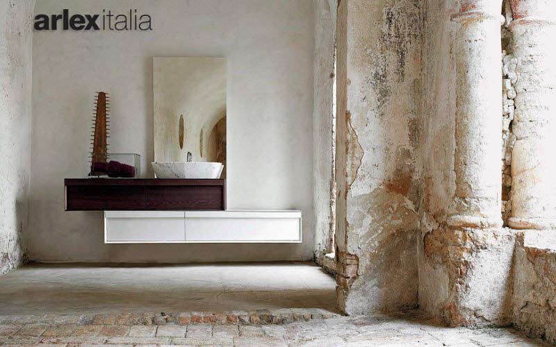 Retro: Meuble salle de bain bois support solide. Deco salle bain retro ...