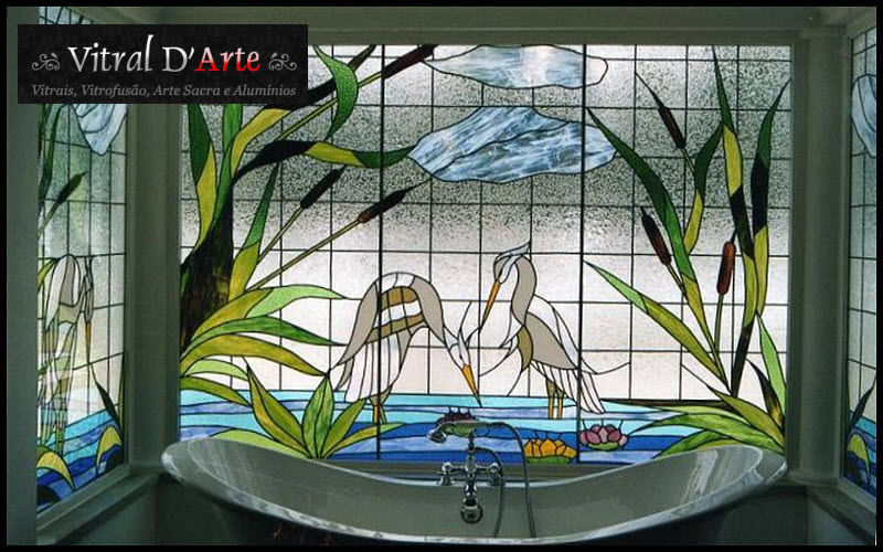 VITRAL D ARTE Vitrail Vitraux Ornements Salle de bains | Décalé