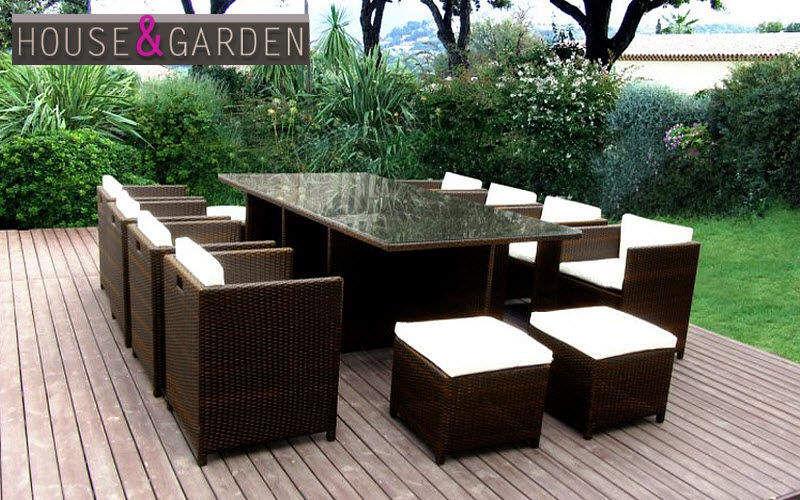 House & Garden Salle à manger de jardin Tables de jardin Jardin Mobilier Terrasse | Contemporain