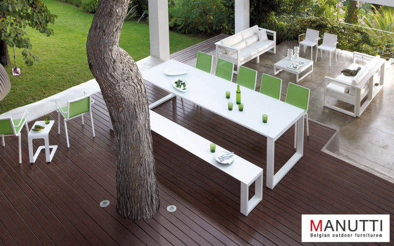 MANUTTI Table de jardin Tables de jardin Jardin Mobilier Terrasse | Contemporain