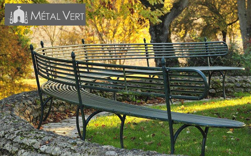 METAL VERT Banc circulaire Bancs de jardin Jardin Mobilier Jardin-Piscine | Classique