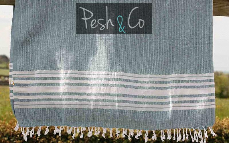PESH & CO Fouta serviette de hammam Linge de toilette Linge de Maison  |