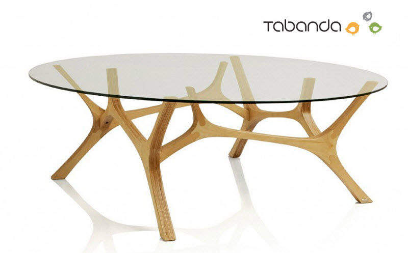 Table basse ovale tables basses decofinder - Table basse ovale bois ...
