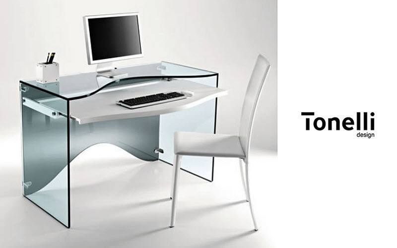 Meuble ordinateur bureaux et tables decofinder - Petit bureau pour pc ...