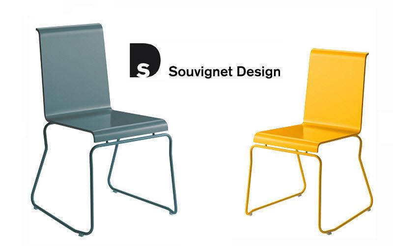 Souvignet Design Chaise de jardin empilable Chaises de jardin Jardin Mobilier  |