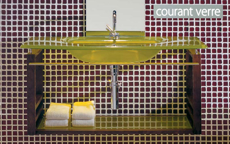 COURANT VERRE Meuble vasque Meubles de salle de bains Bain Sanitaires  |