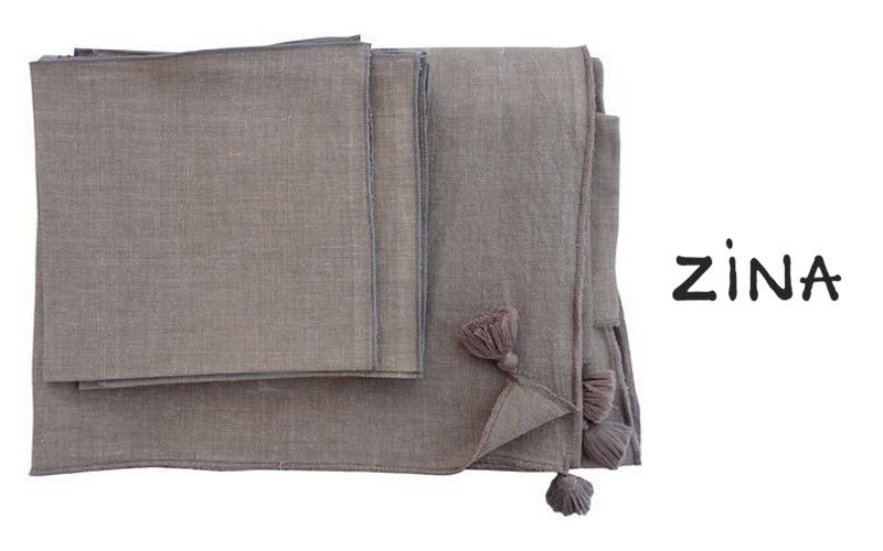 ZINA Nappe et serviettes assorties Nappes Linge de Table  |