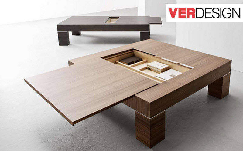 Table basse avec plateau escamotable  Tables basses