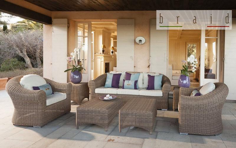 BRAID Salon de jardin Salons complets Jardin Mobilier Terrasse   Charme