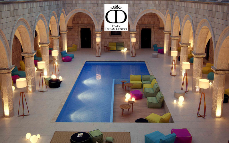 ITALY DREAM DESIGN Pouf d'extérieur Divers mobilier de jardin Jardin Mobilier Terrasse | Design Contemporain