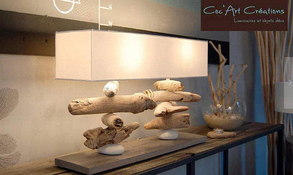 Coc'Art Créations Lampe à poser Lampes Luminaires Intérieur Salon-Bar | Bord de mer
