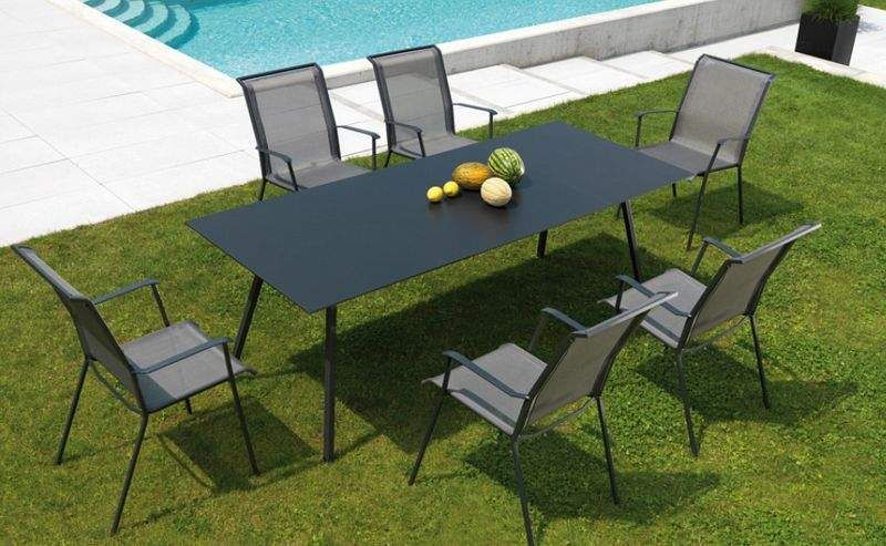 salle manger de jardin tables de jardin decofinder. Black Bedroom Furniture Sets. Home Design Ideas