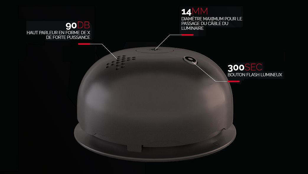 NOXE Alarme détecteur de fumée Alarmes Domotique  |