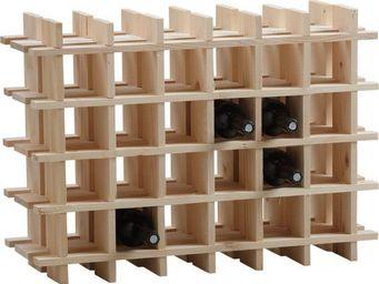 BARCLER - casier � vin en bois 24 bouteilles 71,5x22x51cm - Range Bouteilles