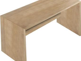 WHITE LABEL - bureau 180 cm en bois coloris ch�ne noyer - Bureau