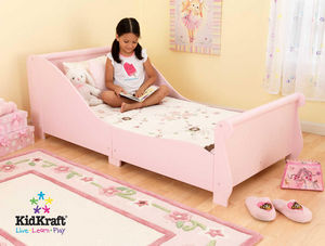 KidKraft - lit en bois rose pour enfant 157x73x55cm - Chambre