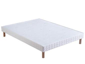 Bultex - sommier confort ferme 2x80x200 bultex - Sommier Fixe À Lattes