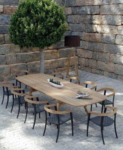 Table de jardin à rallonges-Royal Botania-Zidiz