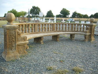 antiquites materiaux anciens deco de jardins - cintré - Banc De Jardin