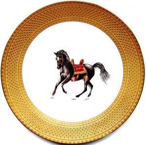 FRADKOF - cheval noble - Assiette De Présentation