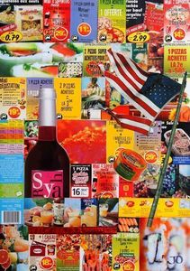 JOHANNA L COLLAGES - world food company - Tableau Contemporain
