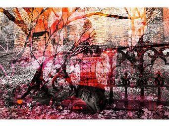 Magel'design - central romantic park 120x80 cm , 3d, effet relief - Tableau Contemporain