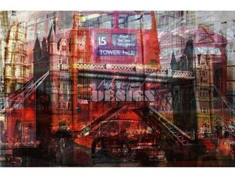 Magel'design - london colors 120x80 cm , 3d effet relief - Tableau Contemporain