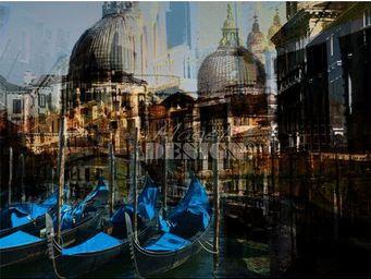 Magel'design - gondoles venise 120x90 cm , 3d effet relief - Tableau Contemporain