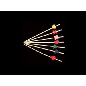 Adiserve - pique brochettes fantaisie coloris assortis 12 cm  - Pique Apéritif
