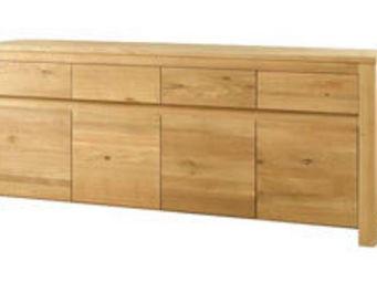 ZAGO - buffet 4 portes 4 tiroirs en chêne massif côme 195 - Crédence