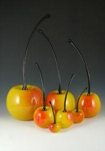 CARLSON ART GLASS -  - Fruit Décoratif