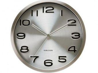 Karlsson Clocks - karlsson - horloge maxy - karlsson - gris - Horloge Murale