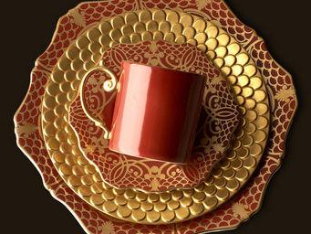L'OBJET - alencon rouge dinnerware - Assiette Plate