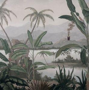 Ananbô - mandalay grisaille - Papier Peint Panoramique