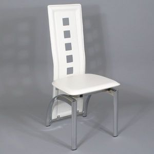 Smart Boutique Design - chaises modernes blanches simili cuir bilbao lot d - Chaise