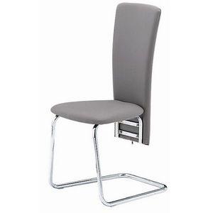 Smart Boutique Design - chaises grises simili cuir tempo lot de 4 - Chaise