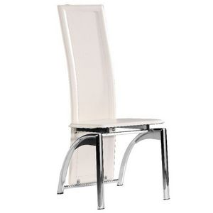 Smart Boutique Design - chaises modernes iris blanc lot de 4 - Chaise