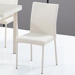 Smart Boutique Design - chaises luna blanc cassé lot de 4 - Chaise