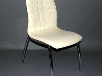 CLEAR SEAT - chaises blanc cassé grazia lot de 4 - Chaise De Restaurant