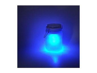 Manta Design - lampe solaire in/out sunjar bleue - Lampe Solaire