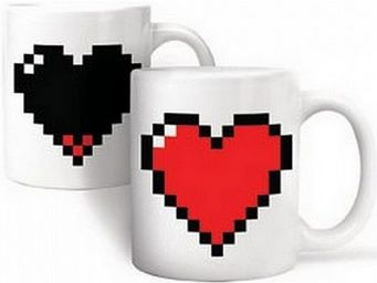 Manta Design - mug design burning heart - Mug
