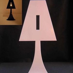 Fenel & Arno - bougeoir lampe en métal blanc chandelier electic - Bougeoir