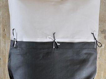 TERRE DE FEMMES - taie d'oreiller en lin alizé avec lien couleur mi - Taie D'oreiller