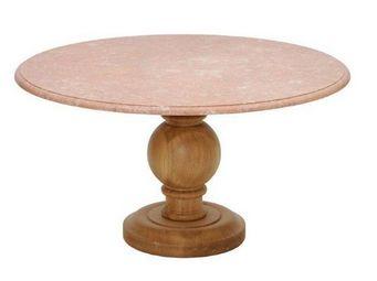 Marbrerie Rouillon - baroque - Table De Repas Ronde