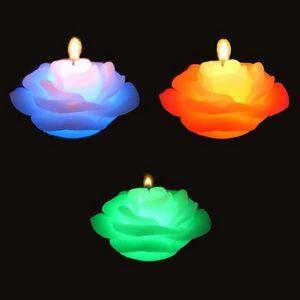 SUNCHINE - 3 bougies roses en cire eclairage led - Bougie Led