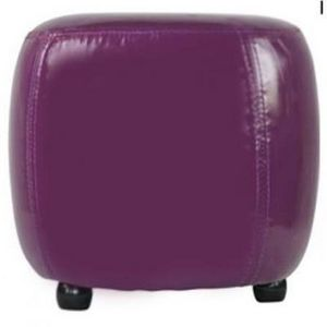 International Design - pouf rond pvc - couleur - violet - Pouf