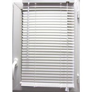 Luance - store vénitien pvc blanc 90x180 cm - Store Enrouleur